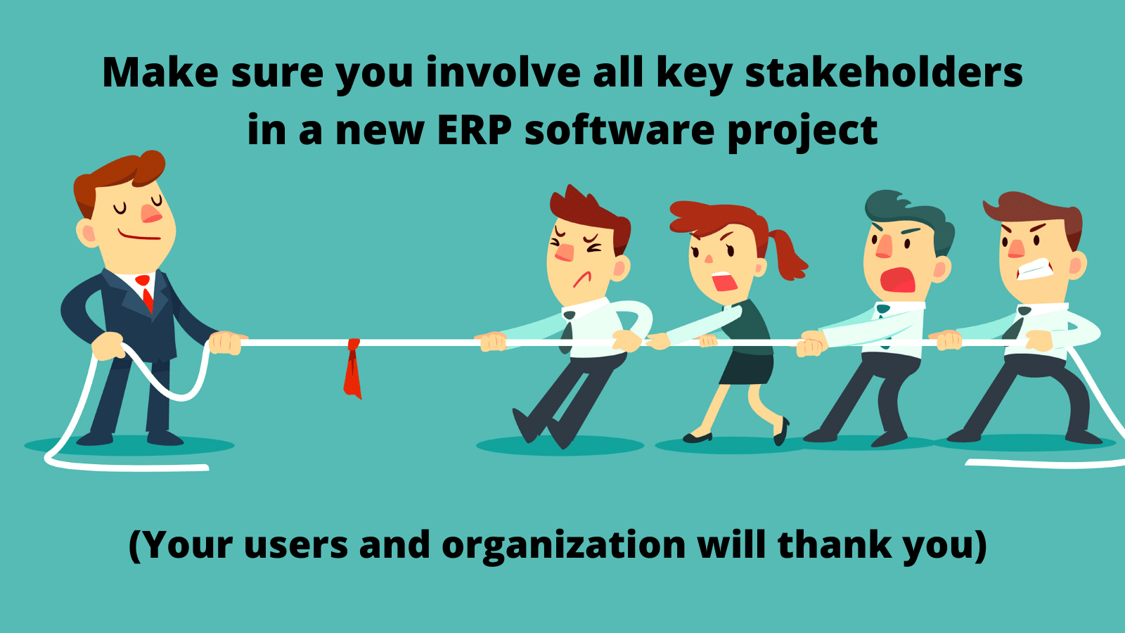 Involve all key stakeholders in an ERP project