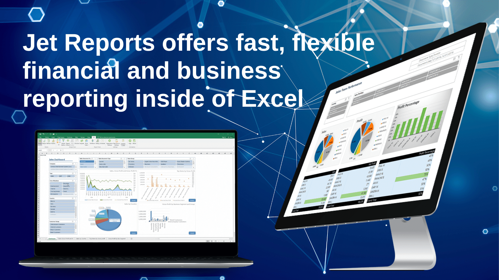 Jet Reports offers fast, flexible financial and business reporting inside of Excel